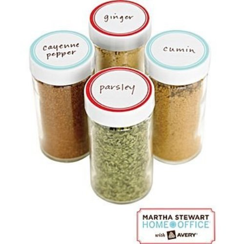 Martha Stewart Home Office with Avery, Kitchen Labels, Red Border, Round, 1-5/8″, 36/Pack