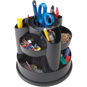 Staples Compartment Rotating Desk Organizer,