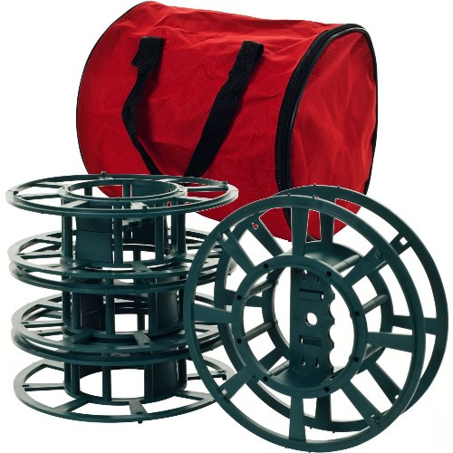 Trademark Home Extension Cord or Christmas Light Reels with Bag, Set of 4
