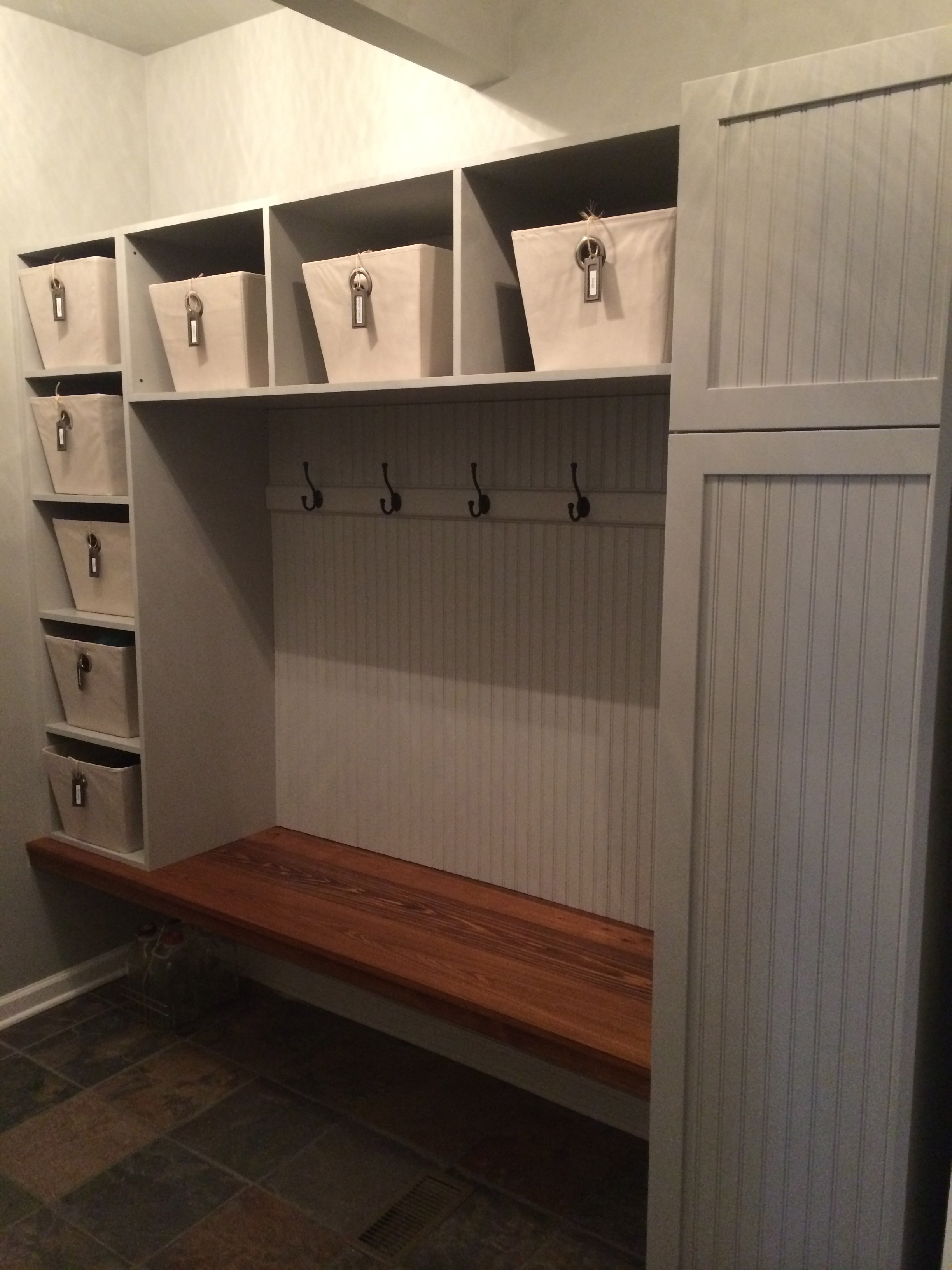 Mudroom Storage Bins : Tips to keeping your sanity simply b organized